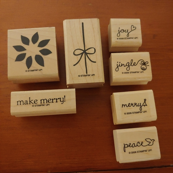Stampin' UP! Holiday Themed Words Stamp Set